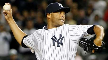 Yankees closer Mariano Rivera in the ninth inning