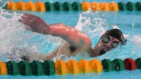 Ward Melville's J.P. Dillon competes in the 500