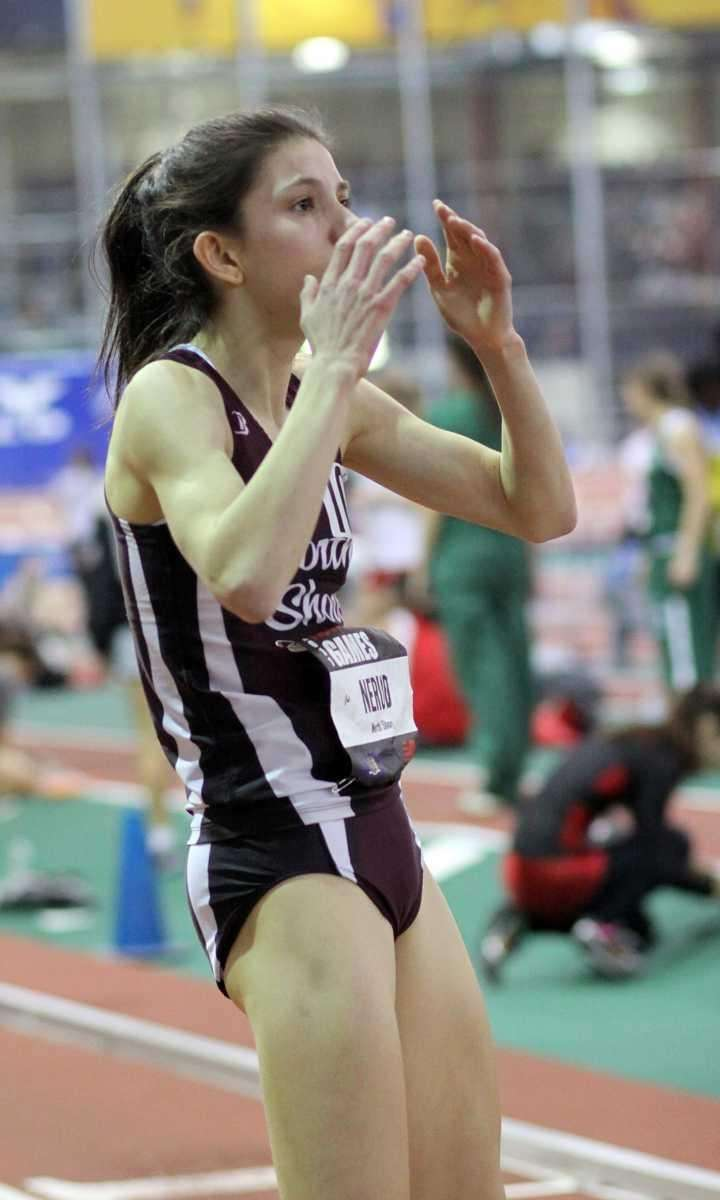 North Shore's Brianna Nerud after her finish looks