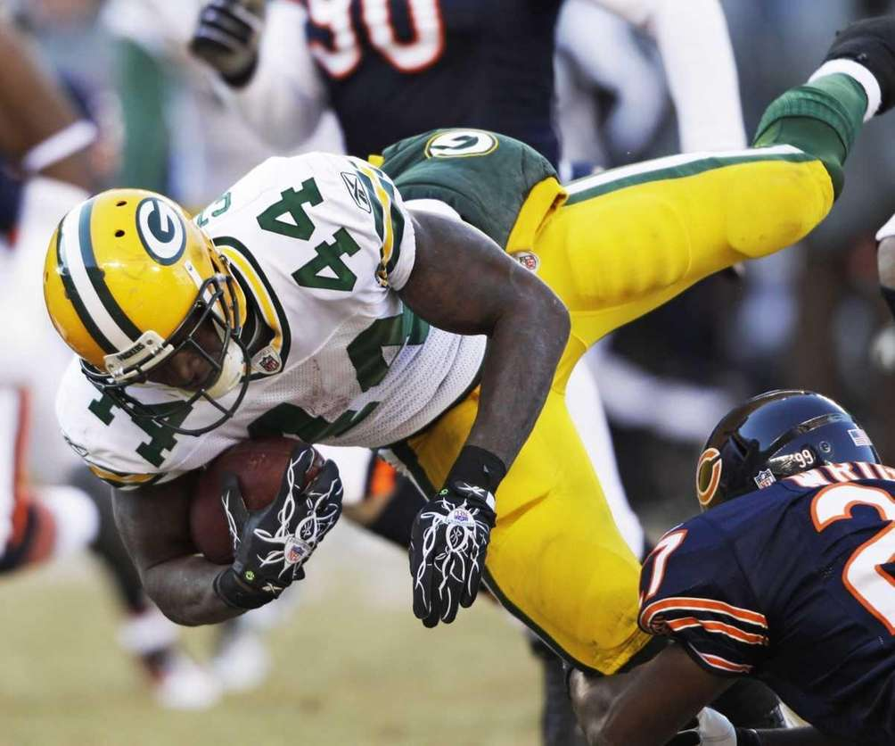 Green Bay Packers running back James Starks (44)
