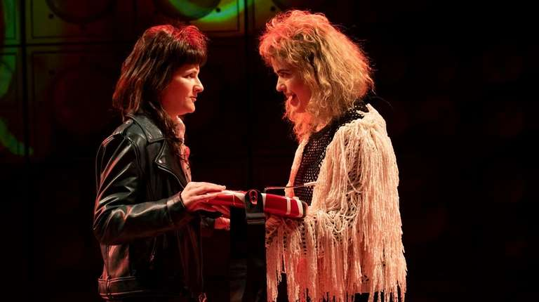 Amy Staats, left, as Eddie Van Halen and