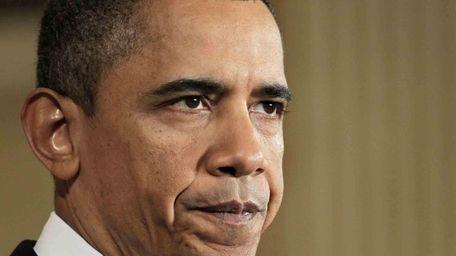 President Barack Obama at the White House, Monday.