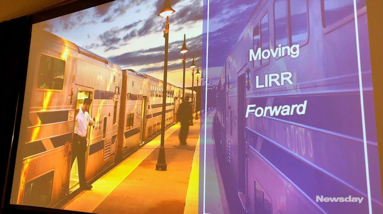 LIRR president Phillip Eng spoke at a Woodbury