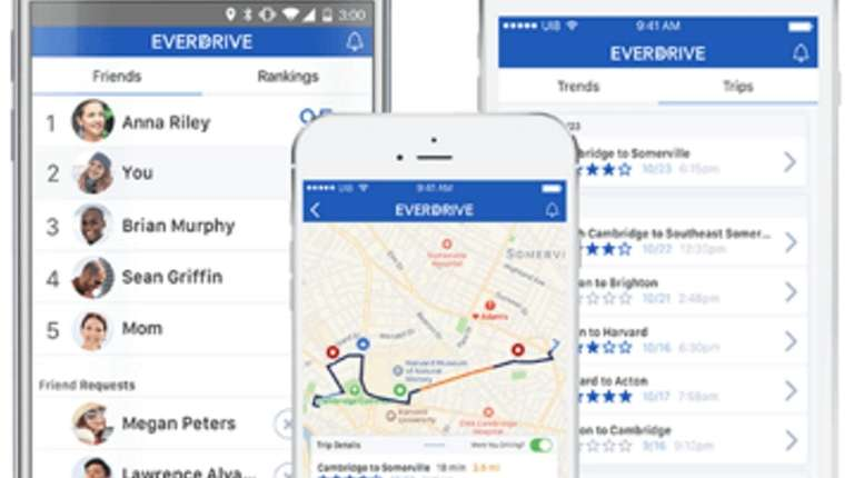 The EverDrive app gives drivers a score after