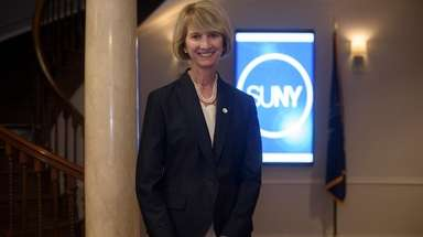 SUNY Chancellor Kristina M. Johnson is seen Sept.