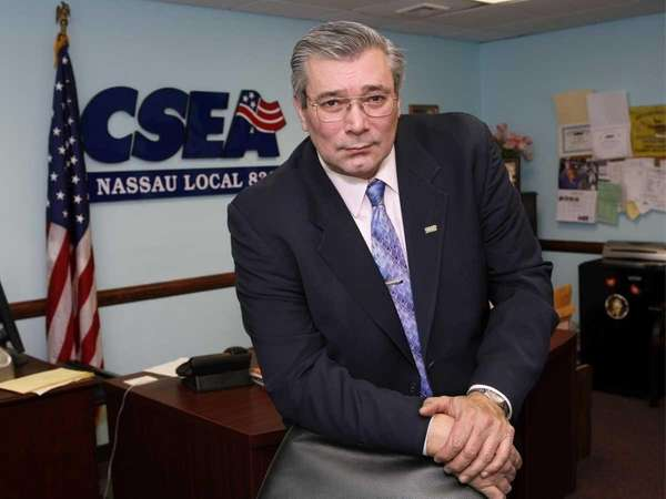 Jerry Laricchiuta, president of CSEA, Nassau Local 830,