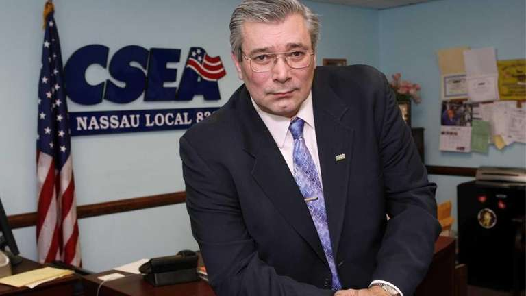 Jerry Laricchiuta, president of CSEA, Nassau Local 830,