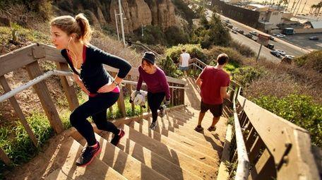 The Santa Monica Steps, a Southern California beachfront
