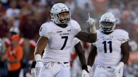 Old Dominion's Oshane Ximines in the second half