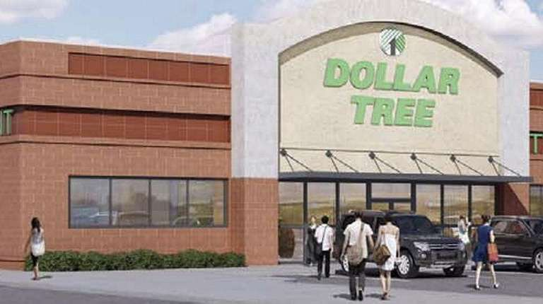 An artist's rendering of the Dollar Tree store