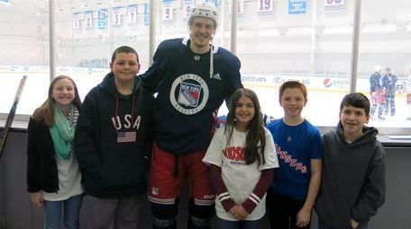 New York Rangers center Brett Howden with Kidsday