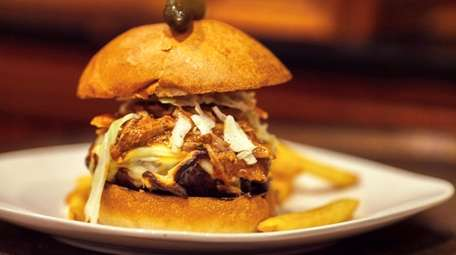 The pulled-pork Stackhouse burger at Mr. P's Southern