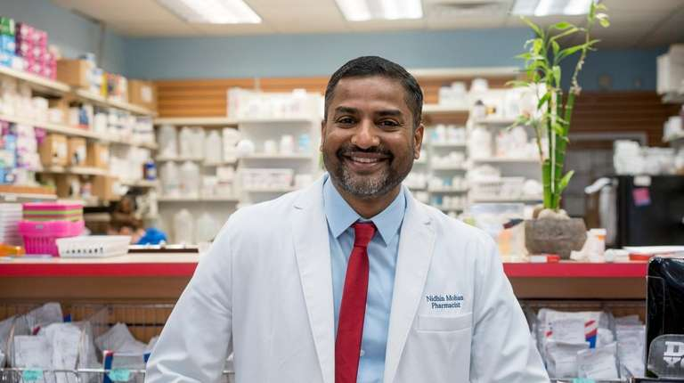 Nathan Mohan, owner of New Island Pharmacy in