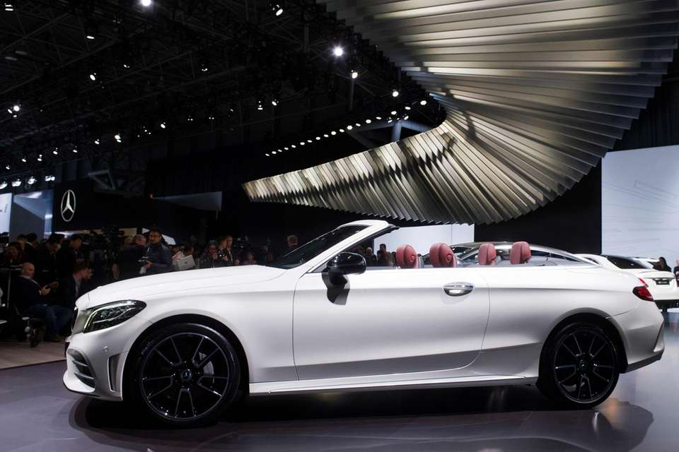 A 2019 Mercedes C-Class Cabriolet is displayed Wednesday,