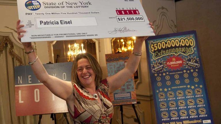 Long Island Lotto winner Patricia Eisel of Long