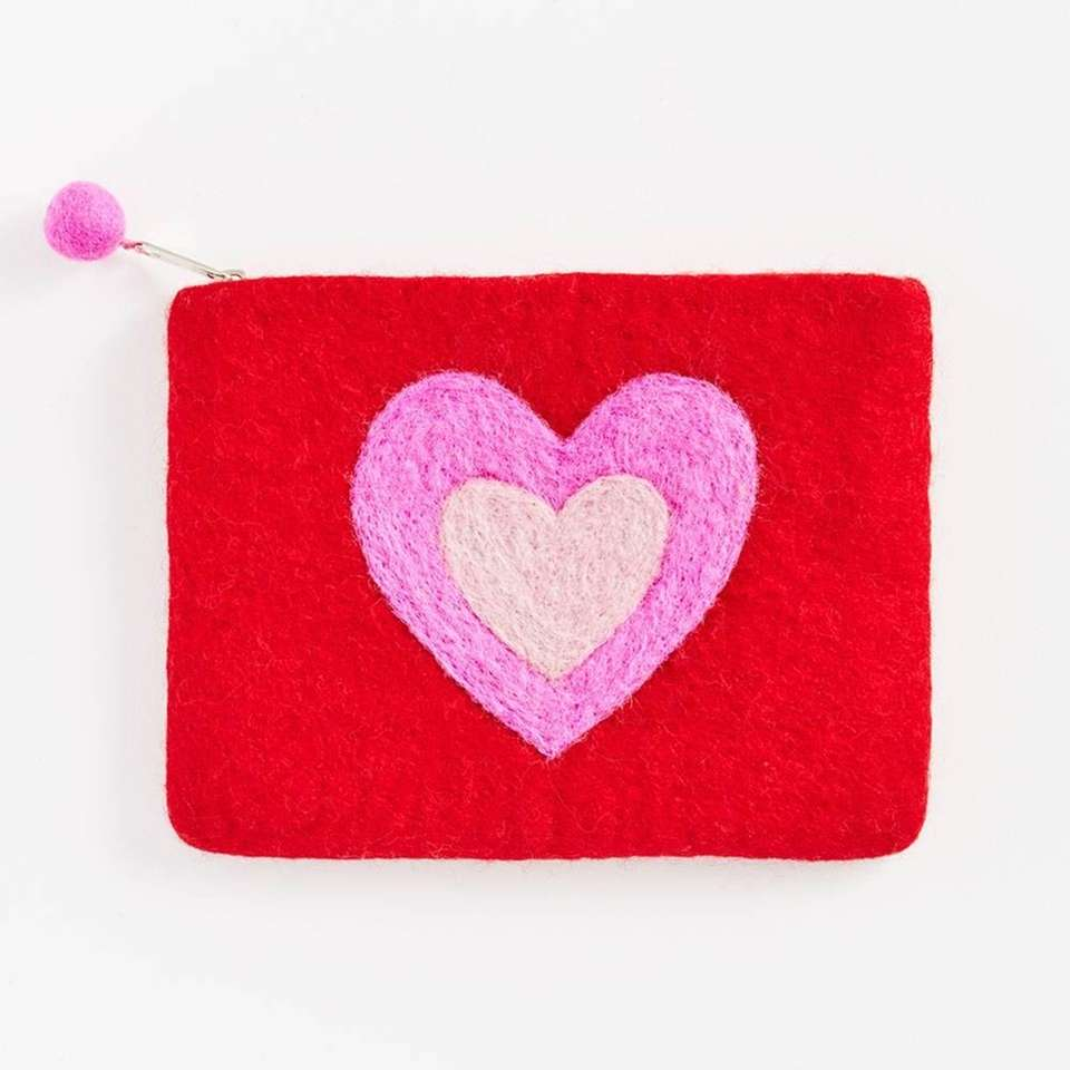 This Valentine's Day red pouch has a big
