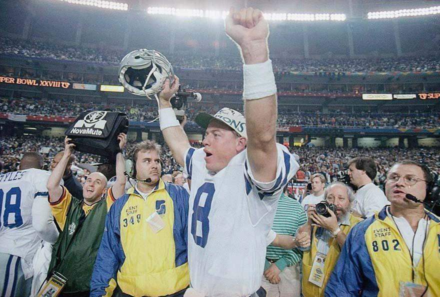 Super Bowls won: Super Bowl XXVII, XXVIII, XXX