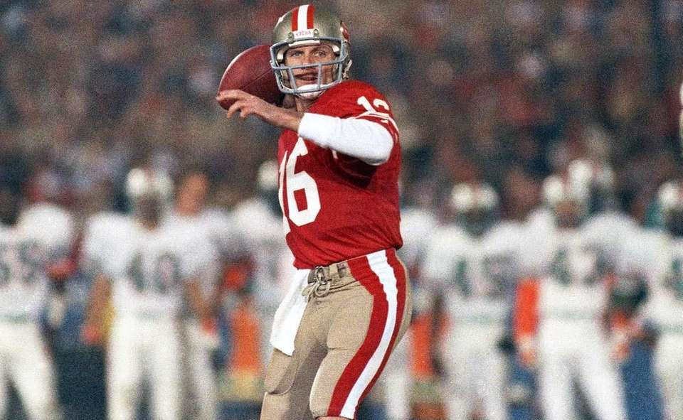 JOE MONTANA, San Francisco 49ers Super Bowl XVI,