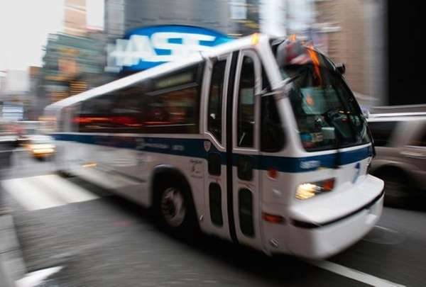 A MTA bus is shown in this file