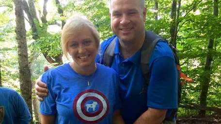 Melissa Sestak and husband Tom. Both are air