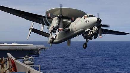 """An E-2C Hawkeye assigned to the """"Liberty Bells"""""""