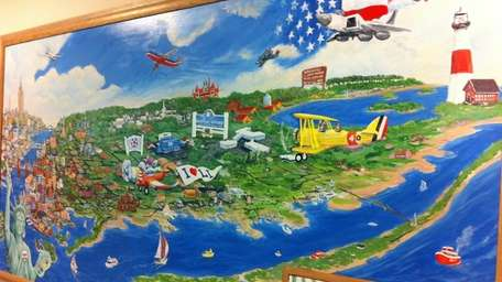 A new mural by Heather Buggee, executive director