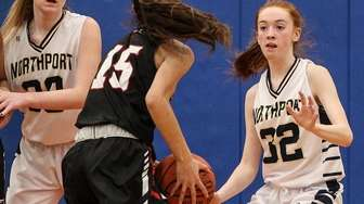 Kelly McLaughlin of Northport defends against Half Hollow