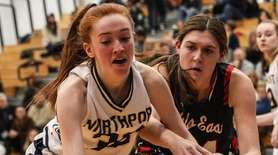 Northport's Kelly McLaughlin and Kaylee Stein of Half