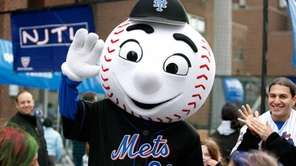 New York Mets mascot Mr. Met attends the