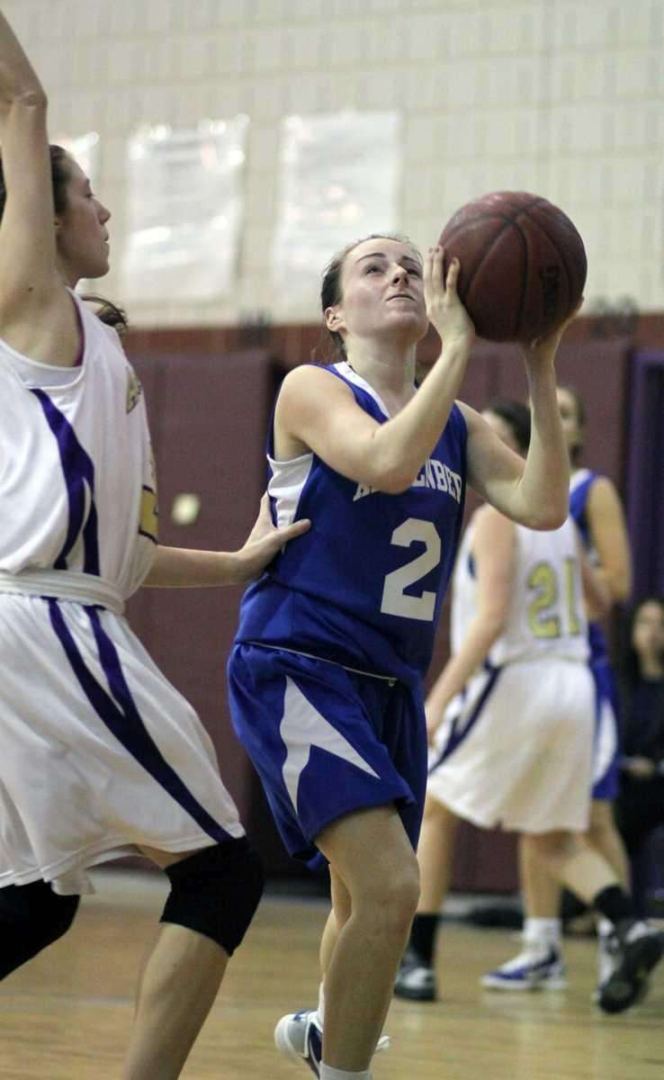 Kellenberg's Nicole Trepata gets position under the basket