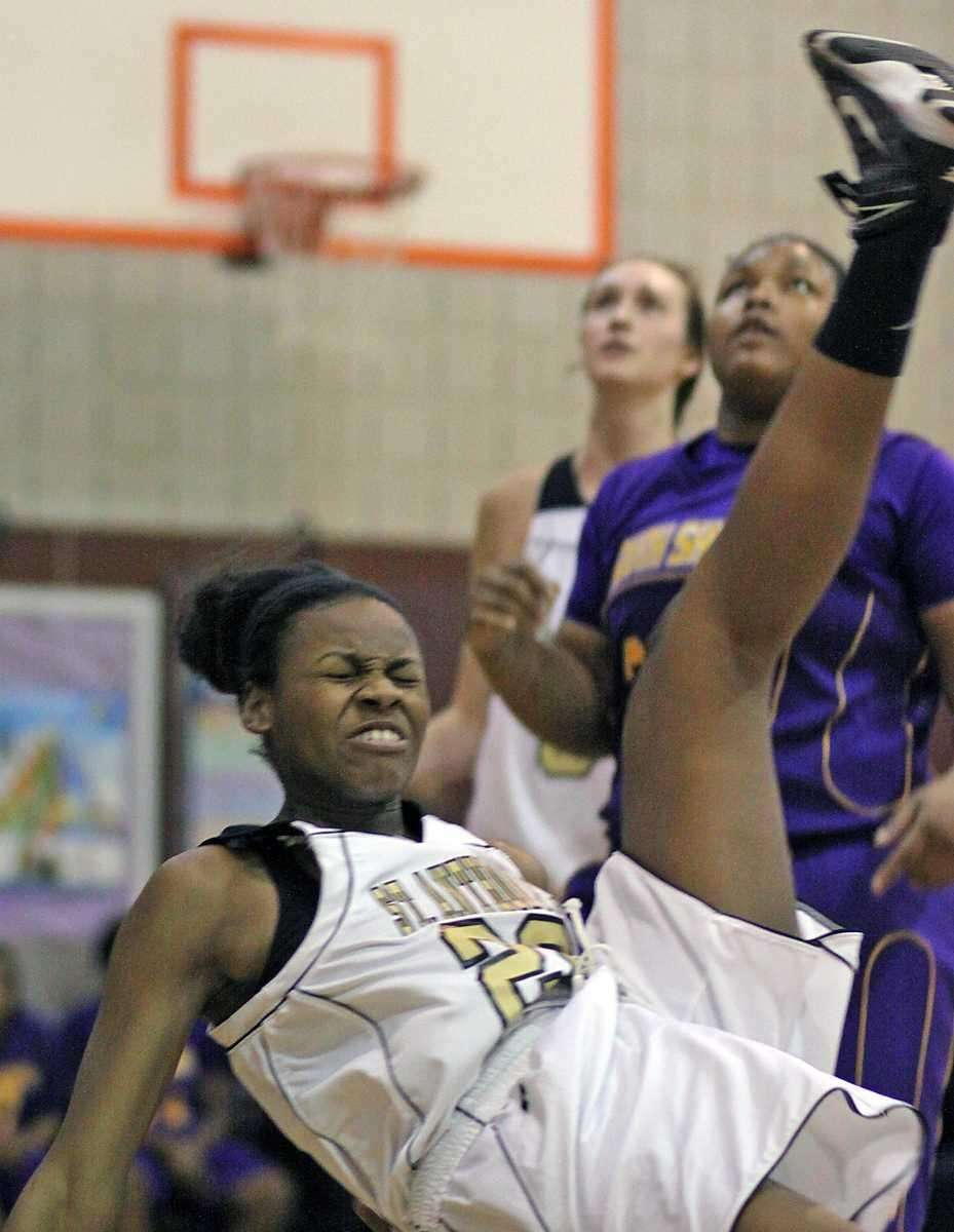 St. Anthony's Kimani Jackson lands hard during a