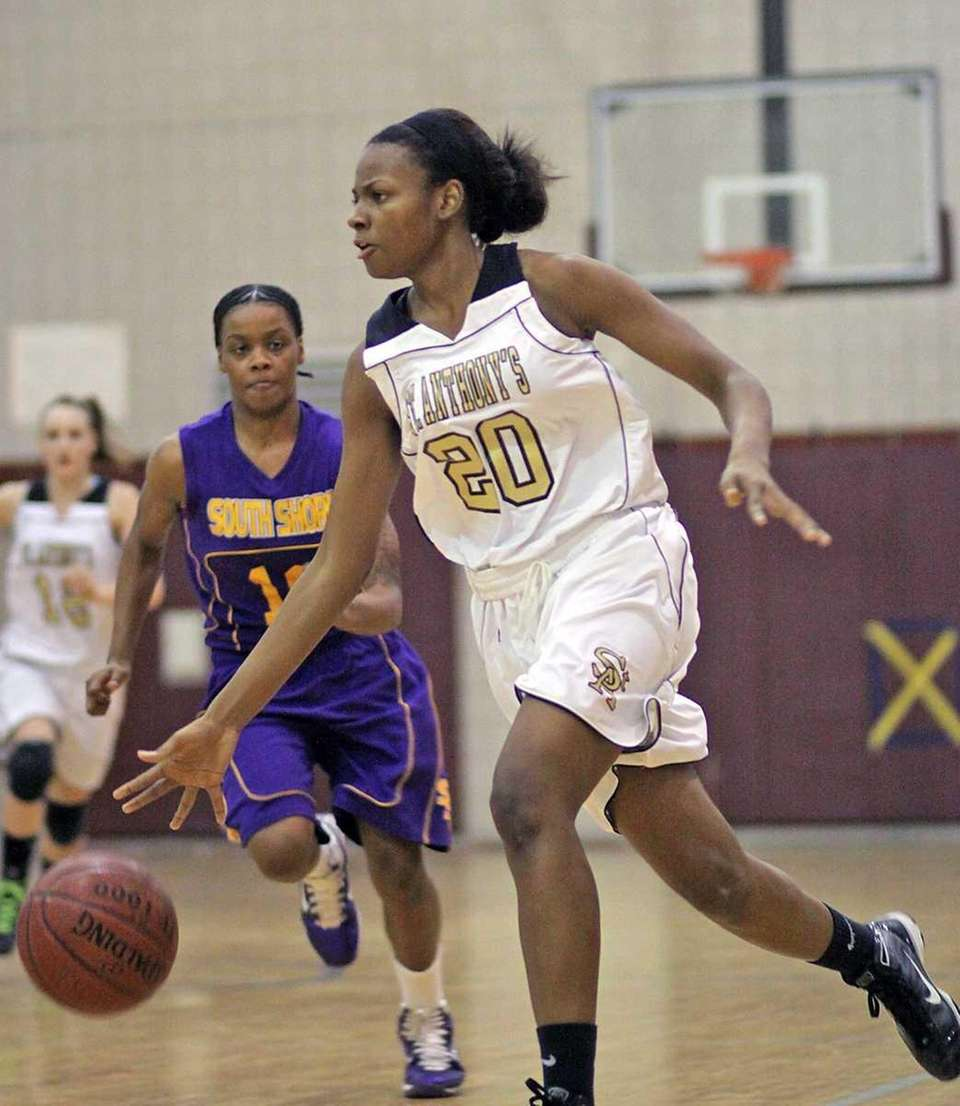 St. Anthony's Kimani Jackson drives with the against
