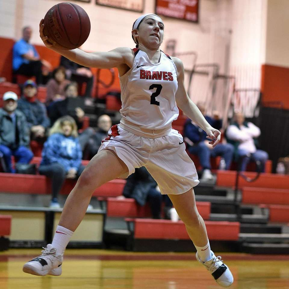 Charlotte Twohig #2 of Syosset leaps to keep
