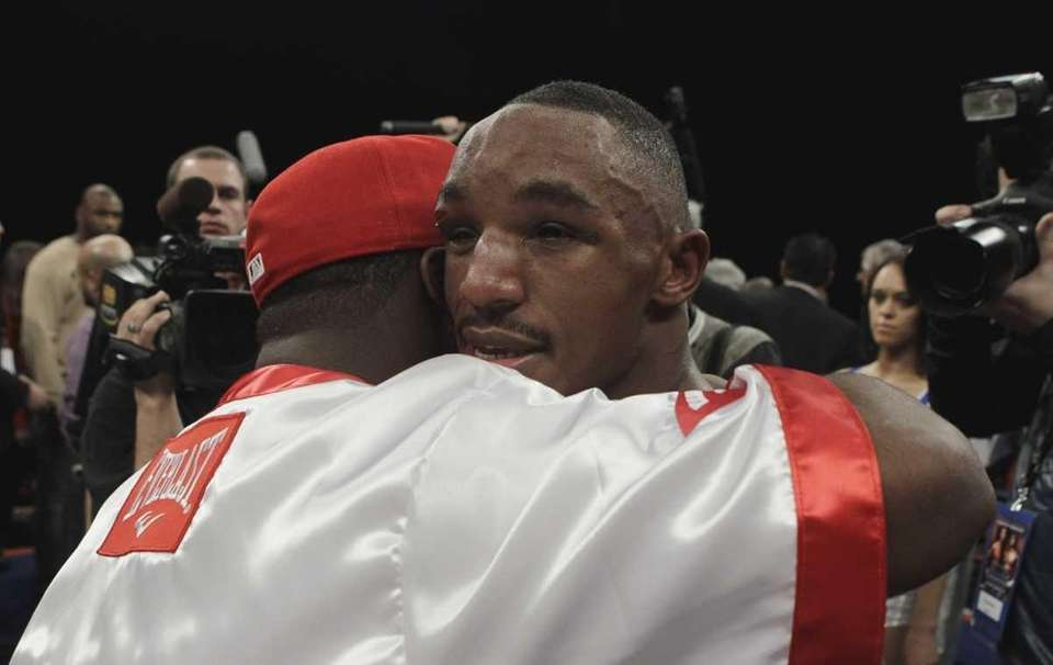 Devon Alexander is consoled after his 10th round