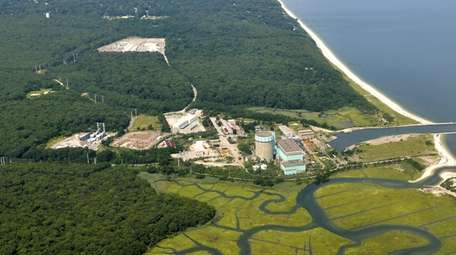 An aerial view of the never-opened Shoreham nuclear