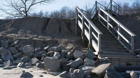 Erosion can be seen Saturday at Kings Park