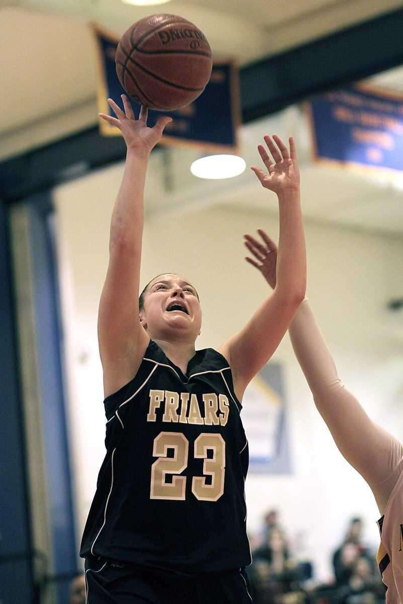 St. Anthony's Kerrin Maurer gets the basket and