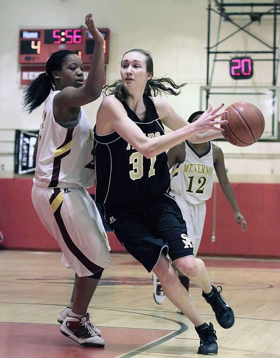 St. Anthony's Michele Impellizeri drives inside during the