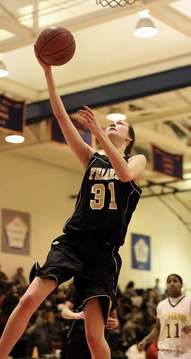 St. Anthony's Michele Impellizeri under the basket during