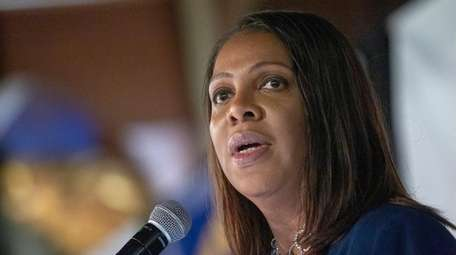 New York State Attorney General Letitia James announces