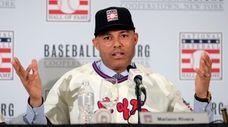 Baseball Hall of Fame inductee Mariano Rivera speaks