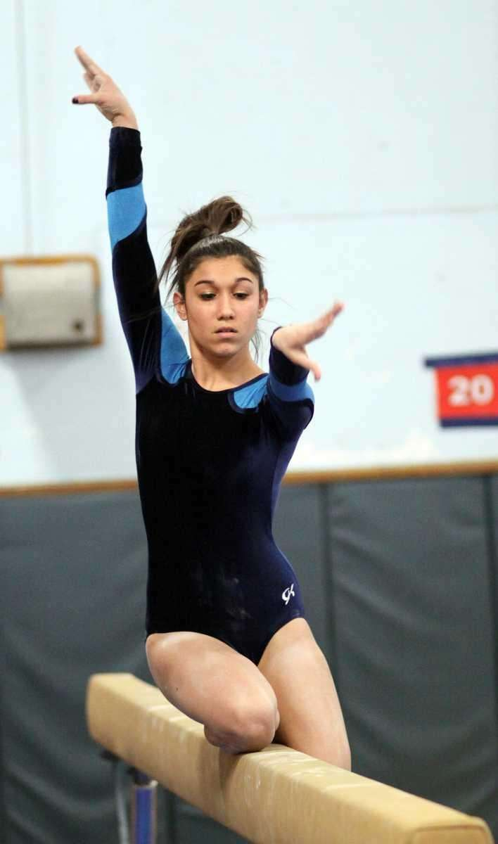 Massapequa's Jessica Romano on the balance beam during