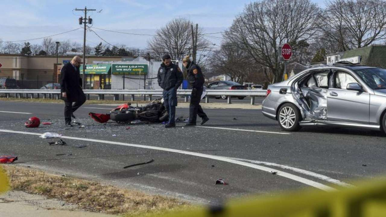 A Copiague man died Sunday after the motorcycle