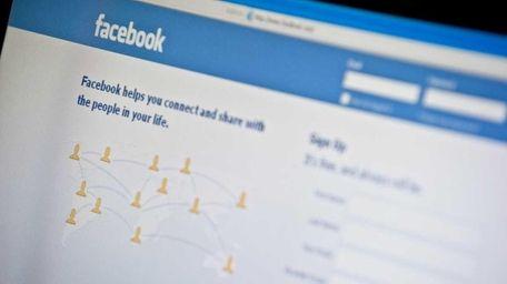 Facebook login page. (Jan. 3, 2011)