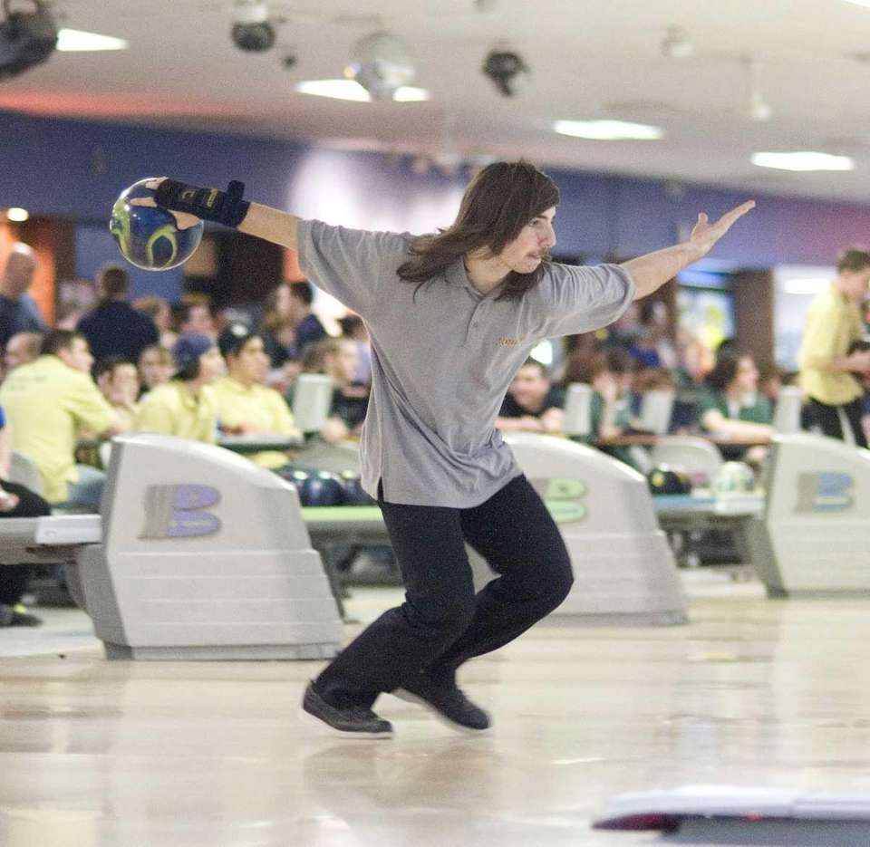 Central Islip's boys bowling team member Matt DiGiantomasso
