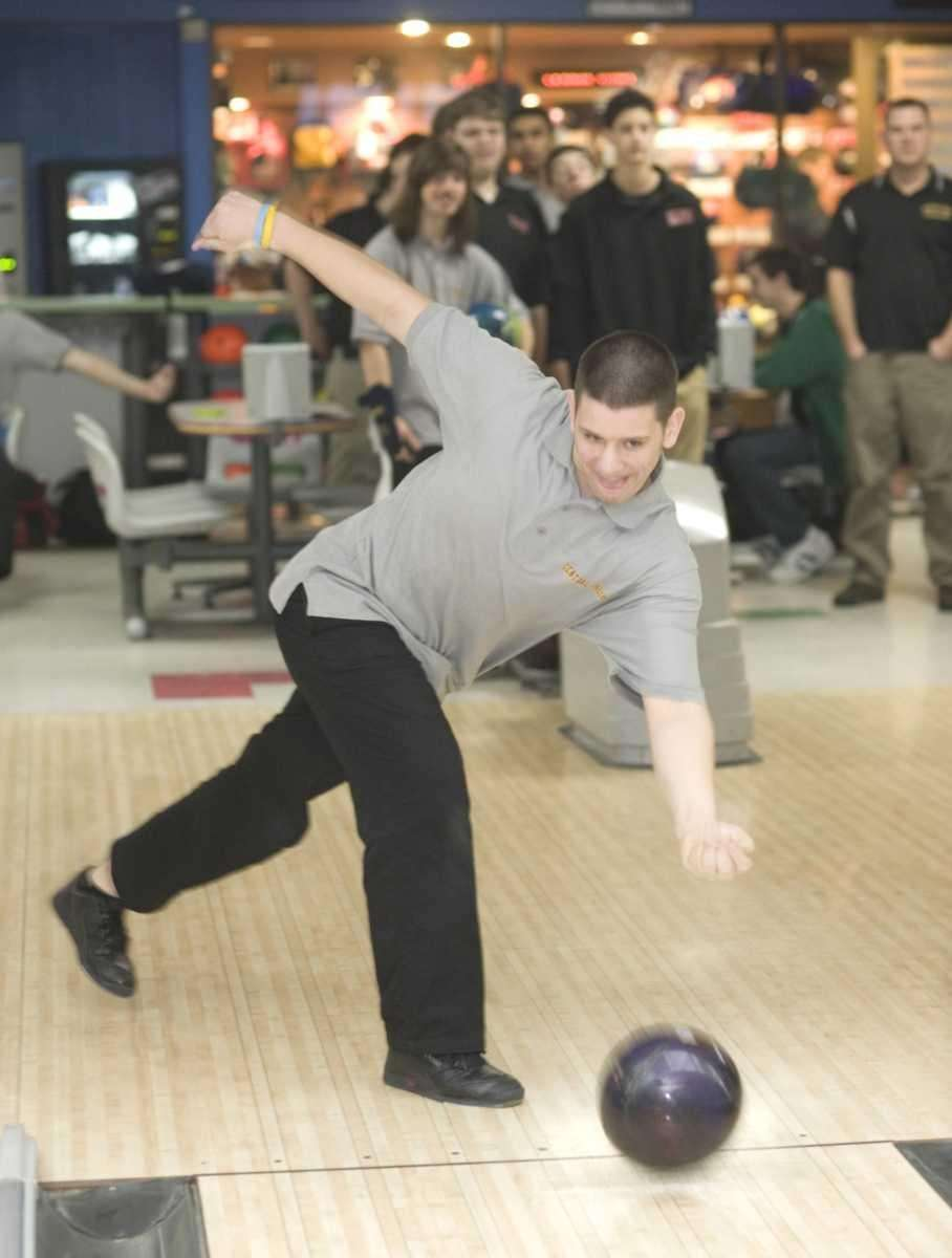 Central Islip's boys bowling team member Vincent Lupo