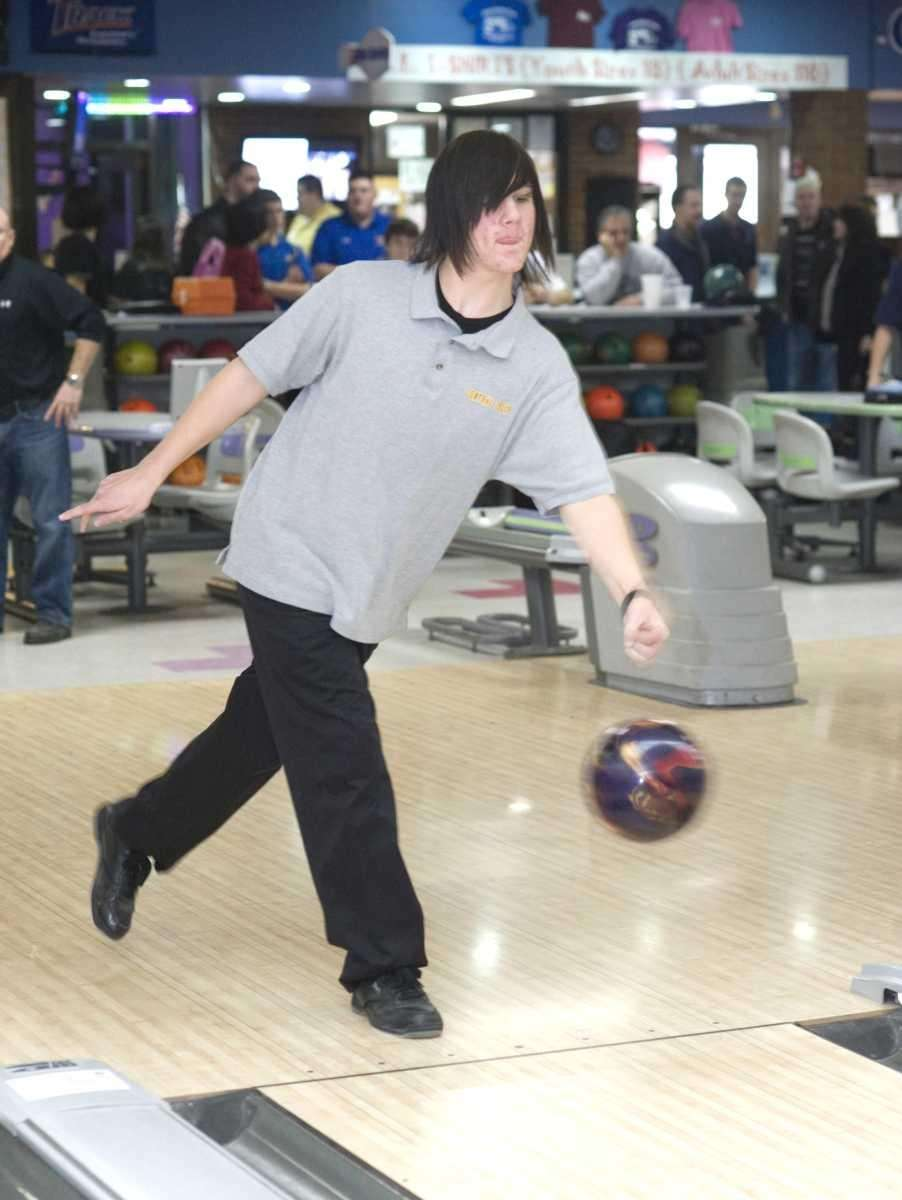 Central Islip's boys bowling team member James Krafft