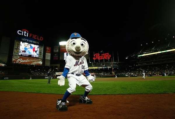 Undated file photo of New York Mets mascot