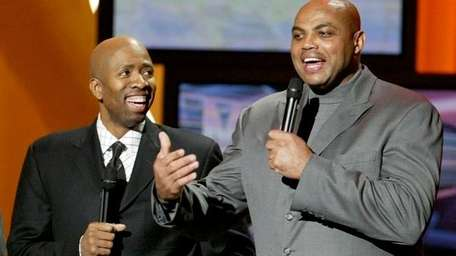 Kenny Smith and Charles Barkley