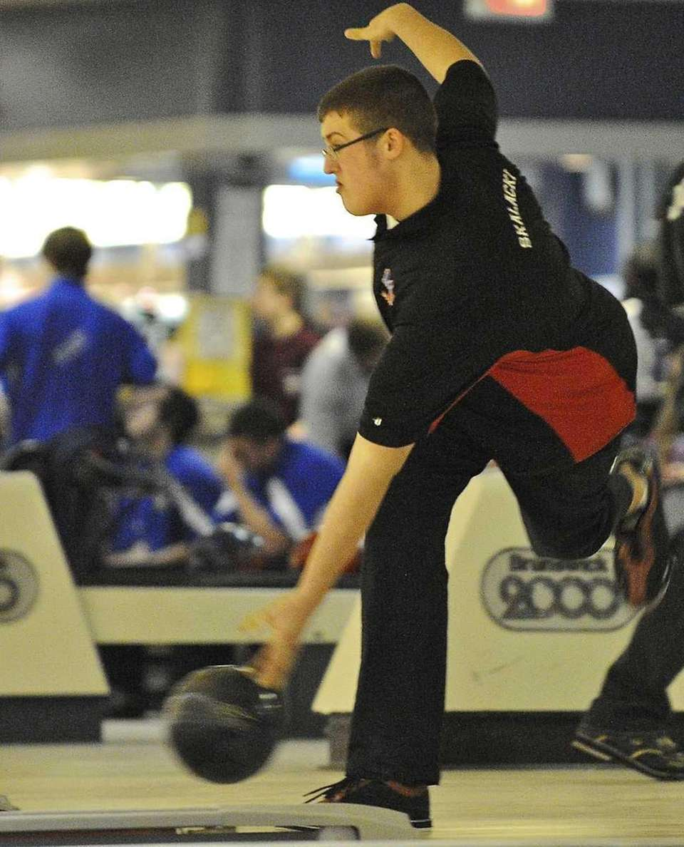 Middle Country's Matt Skalacki releases the bowling ball